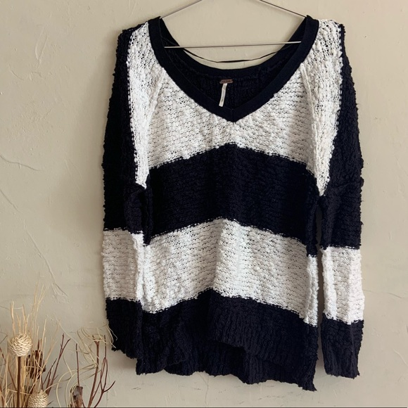 Free People Sweaters - Free People• striped oversized sweater size small